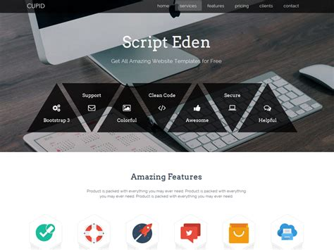 alpha one page free bootstrap template cupid one page free bootstrap template