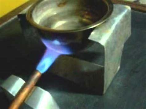 Pompa Air Mini Berbahan Bakar Bensin mencoba kompor gas dengan uap bensin phim hay em