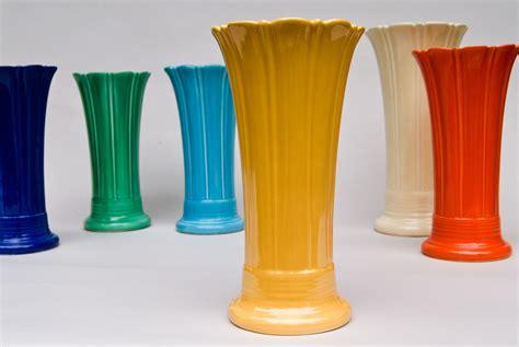 Fiestaware Vase by Vintage 10 Inch Original Yellow Fiestaware Pottery