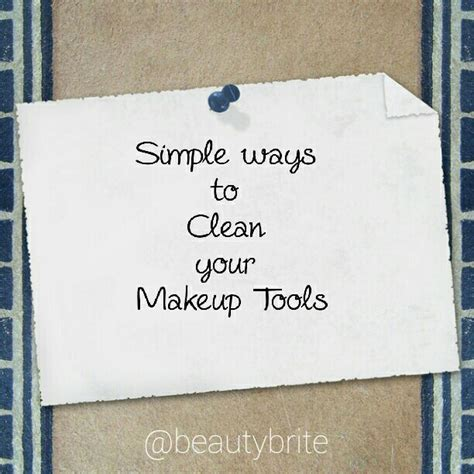 Post It Make It Stick Sweepstakes - simple ways to clean your makeup tools beauty brite