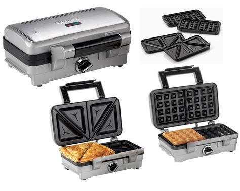 Waring Toaster Cuisinart 2 In 1 Sandwich And Waffle Maker