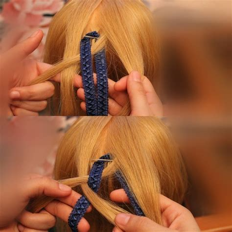 diy ribbon hairstyles how to diy checkerboard braid hairstyle with ribbon