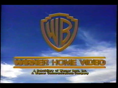 warner home 1990 company logo vhs capture