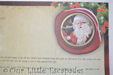 personalized letter from santa babys first christmas baby s first christmas letter from santa personalised
