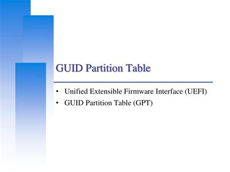 Guid Partition Table by Ppt Guid Partition Table Powerpoint Presentation Id