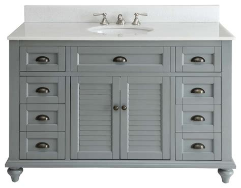 "Glennville Bathroom Vanity, Gray, 49""   Farmhouse   Bathroom Vanities And Sink Consoles   by"
