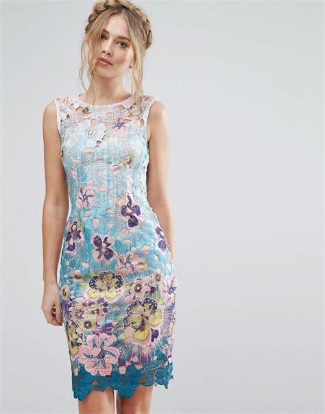 Dress Gsy 45 paper dolls floral lace midi dress mutli floral 163 45 50 times