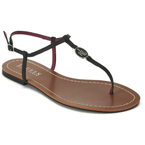 ralph womens sandals ralph s aimon leather flat sandals