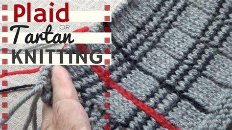 tartan knitting tartan or plaid knitting