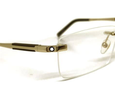 Frame Mont Blank Lensa woodnet rakuten global market eyeglasses mont blanc no hci no gold x matt brown to
