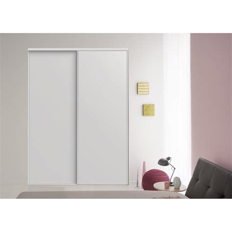 Leroy Merlin Porte Coulissante Placard 3887 by Lot De 2 Portes De Placard Coulissante Blanc L 205 X H 250