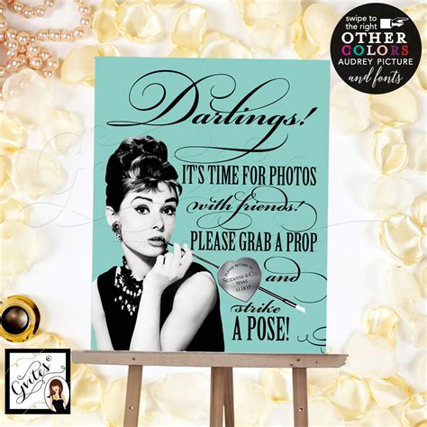 Breakfast At Tiffany S Photo Booth Grab A Prop And Strike | breakfast at tiffany s photo booth grab a prop and strike