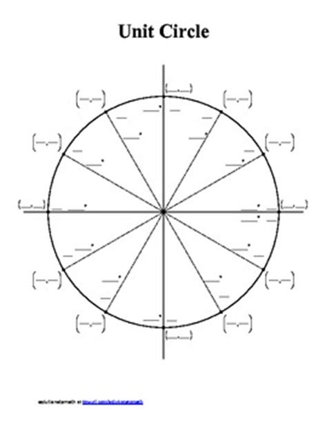 printable unit circle quiz unit circle blank and completed by solutionstomath tpt