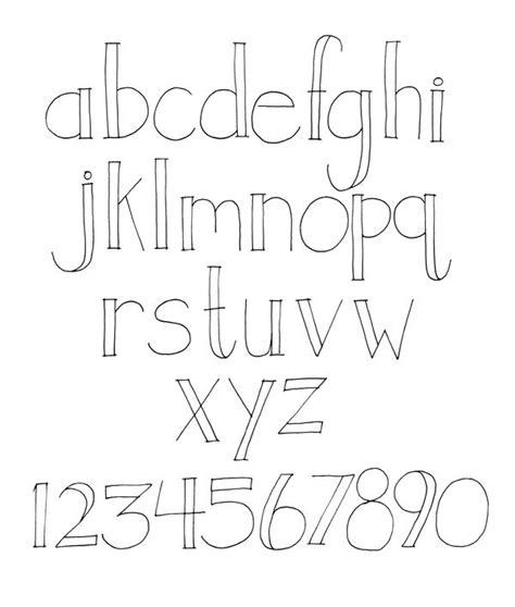 font design hand creative lettering styles alphabet hand lettering alphabet