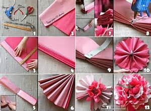 How To Make Decorations At Home Diy Beautiful Tissue Paper Flowers For Wedding