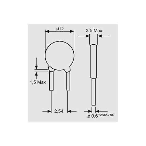 ceramic disc capacitor dimensions egpu 100 v 22 pf disc capacitors pitch 2 54mm elpro elektronik