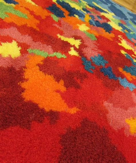 psychedelic rug diy latch hooked psychedelic shag rug two string