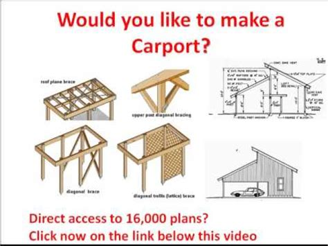 Construire Un Toit Plat 2135 by Carport Ideas Drawings From A Carport Click Here