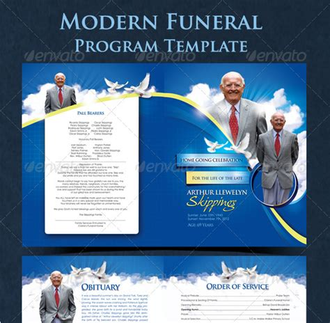 free funeral program templates category church flyers