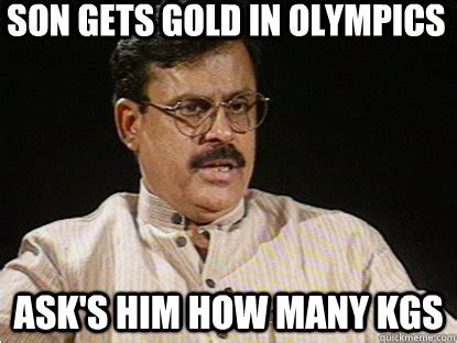 Thank You Come Again Meme - son gets gold in olympics ask s him how many kgs typical