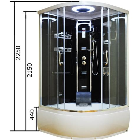 shower bath cubicle aeros 16100 shower bath cubicle enclosure in black buy