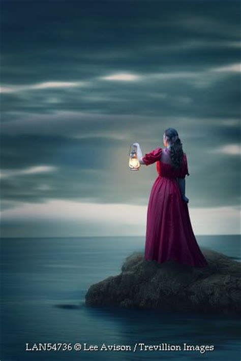 169 Lee Avison Trevillion Images Woman With Lamp By Sea
