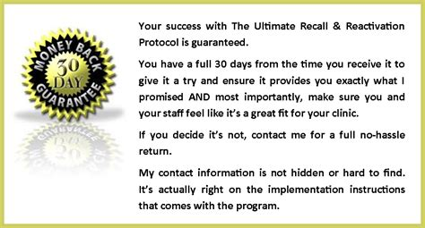 Patient Reactivation Letter chiropractic patient recall and reactivation protocol
