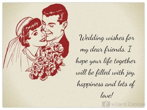 Wedding wishes for my dear friends. I hope your life