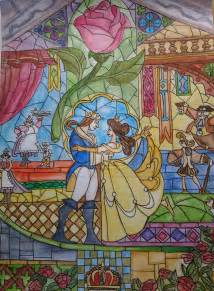 Fairy Princess Wall Mural beauty and the beast stained glass window by count your