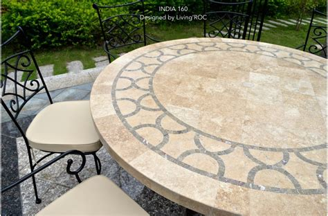 Marble Patio Table 63 Quot Outdoor Patio Mosaic Marble Travertine Dining Table Outdoor India