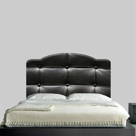 Cushion Headboard Black Cushion Headboard Mural Decal Headboard Wall Decal