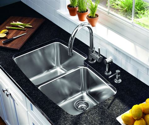 Catchy stainless steel kitchen sinks lowes ideas on granite countertop