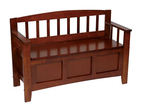 mission style storage bench walnut finish wood hall entry way storage bench mission