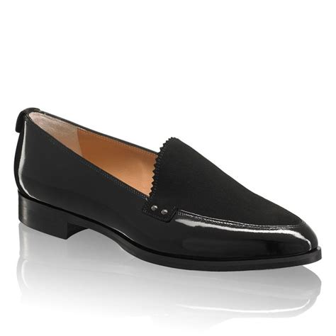 and bromley patent loafers bromley store clean cut loafer black