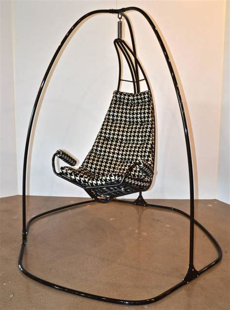 swinging lounge chair metal framed swinging lounge chair for sale at 1stdibs