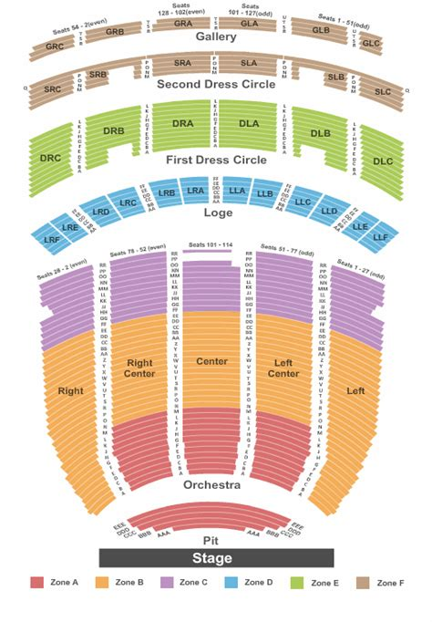 fabulous fox seating concert tickets seating chart fabulous fox