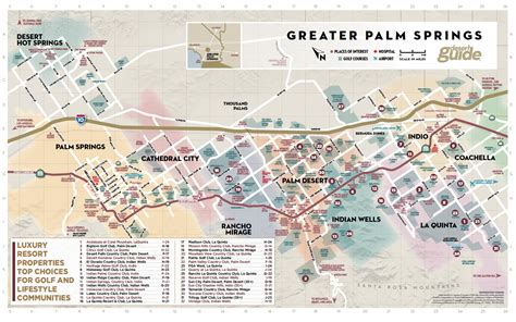 palm springs map palm springs map map