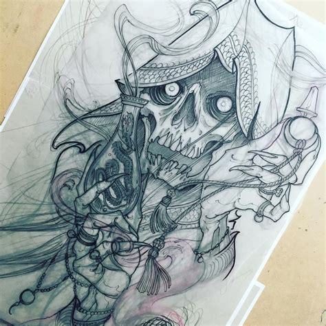 death tattoo design school new school