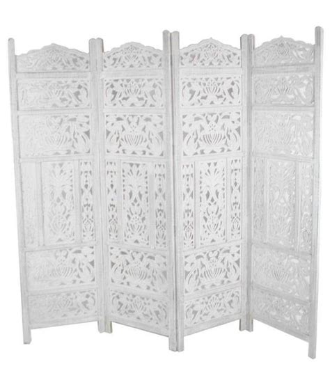 White Room Divider Screen Carved Wooden Leaves Room Divider Screen White Room Dividers Uk