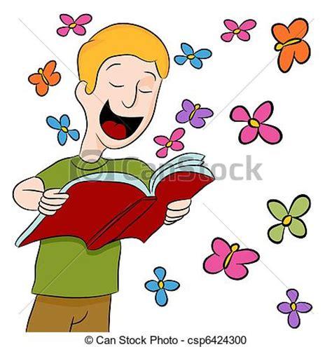 libro engelkarten fr kinder clipart vecteur de gar 231 on lecture livre dehors une image de a gar 231 on csp6424300