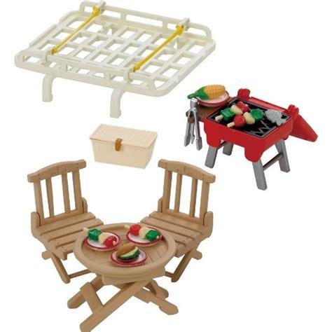 Sylvanian Families Bikes And Picnic Set sylvanian families roof rack with picnic set from who what why