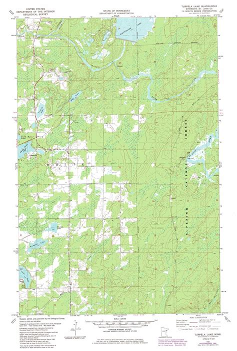 minnesota topographic map turpela lake topographic map mn usgs topo 47092d2