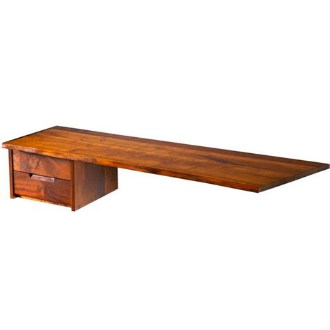 Wall Hanging Desks by George Nakashima Quot Free Edge Quot Wall Hanging Desk Console