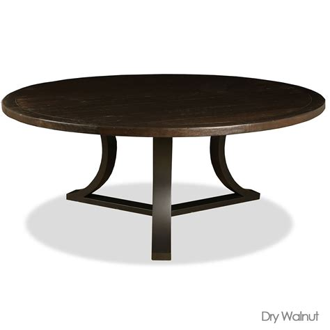 Belle reclaimed wood round dining table