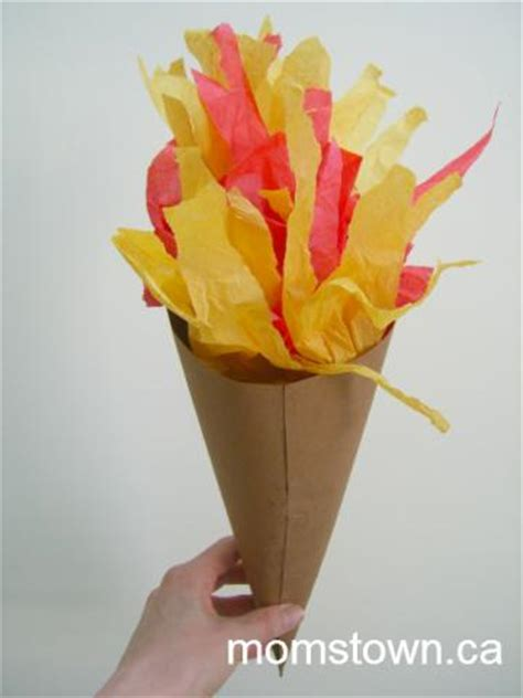 How To Make A Paper Torch - easy olympic torch craft