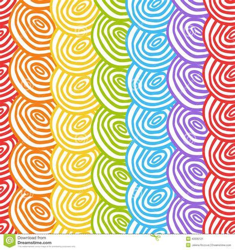 rainbow pattern doodle seamless simple rainbow doodle background stock vector