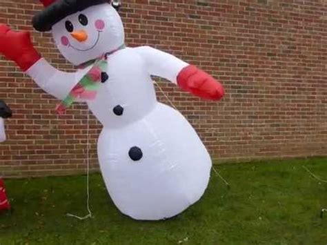 large inflatable snowman christmas decoration 240cm 8ft 8