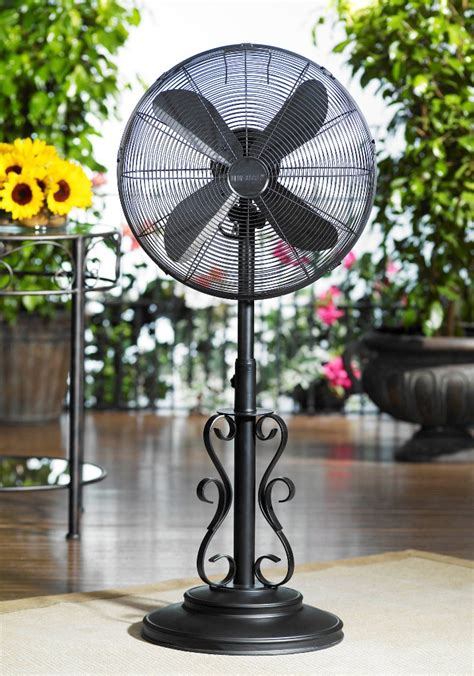 dbf0624 ebony outdoor patio fan floor standing outdoor