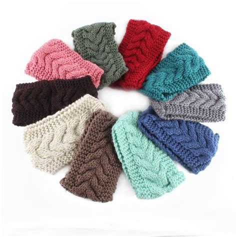 23 colors knitted turban headbands for winter warm buy wholesale crochet headbands from china