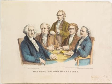 george washington cabinet members washington and his cabinet currier ives springfield